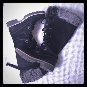 Timberlands Woman's winter boots black 8